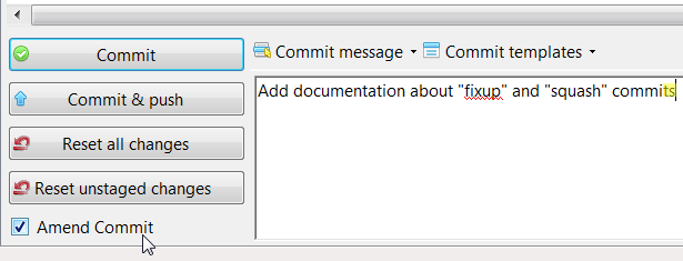 git add changes to last commit